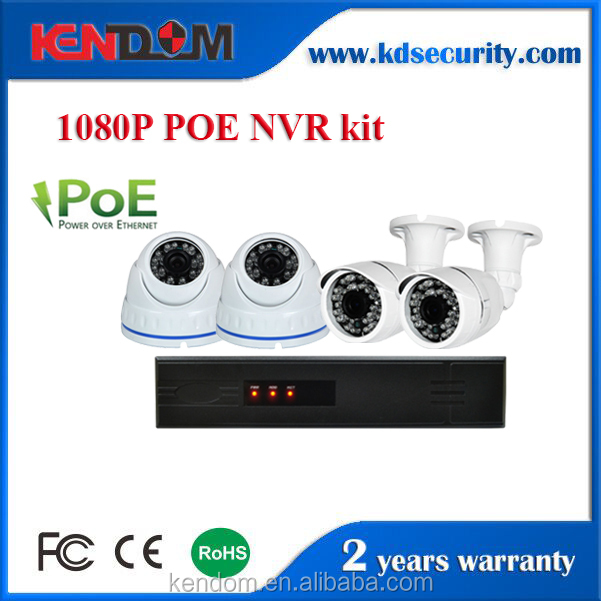 CCTV 8ch 2.0mp 1080P Network Security ip camera poe NVR support POE NVR Kit home video surveillance system compare with 2TB