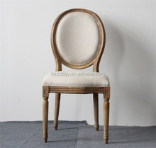 French country hot sale old fashion furniture round back rental party chair,pub chair,restaurant club chairs