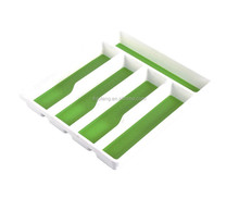 Plastic storage kitchen drawer cutlery tray with divisions