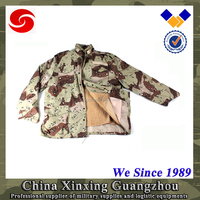 Military camo soft shell waterproof winter jacket