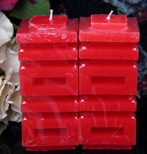 """best wish"" in Chinese Character Red wedding decoration style wax shaped candles"