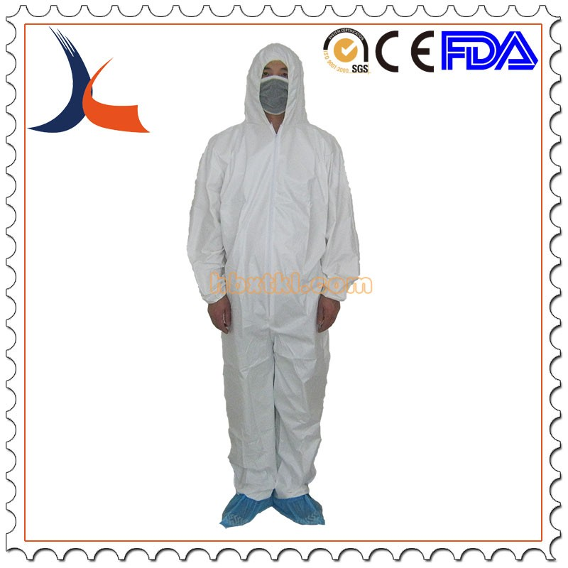 Disposable SF protective coverall with flap