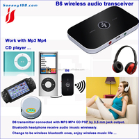2016 new bluetooth audio transmitter receiver 2 In 1 Stereo music Adapter for TV PC headset audio devices