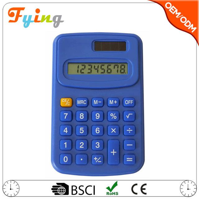 Promotional mini calculator wholesale, 8 digits pocket calculator