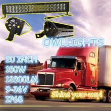 NEW products !! clear covers /filter 180w double row straight Offroad ATV led light bar 20 inch light bar for truck 4wd SUV UTV