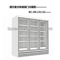 Multidecks glass door display refrigerator