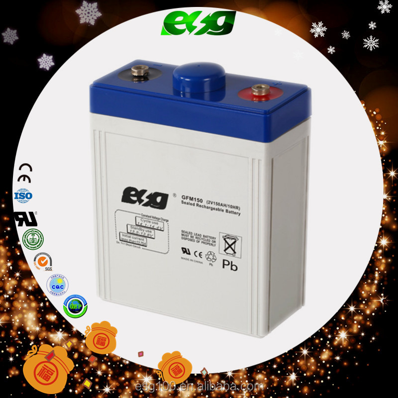Valve regulated battery 2V 150ah Deep cycle battery for home power system