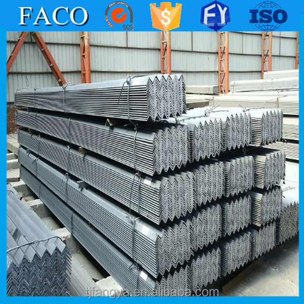 Fangya galvanized angle bar ! galvanized h and c profiles galvanized low price steel angle bar 63x63x4