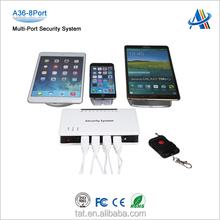 Retail open display security system,multiple function retail display security system for cell phone/tablet with 8 usb port