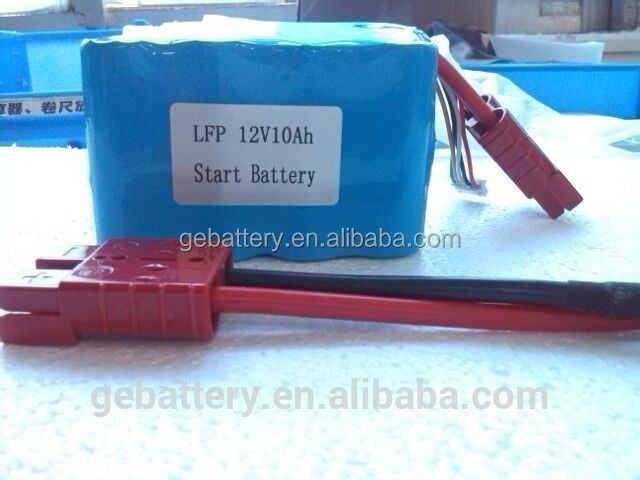 12V lifepo4 18650 rechargeable deep cycle battery pack 10Ah
