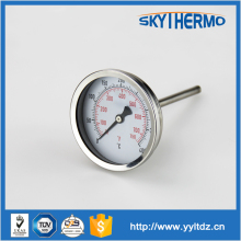 thermometer for furnace stainless steel probe bimetal oven pizza thermometer