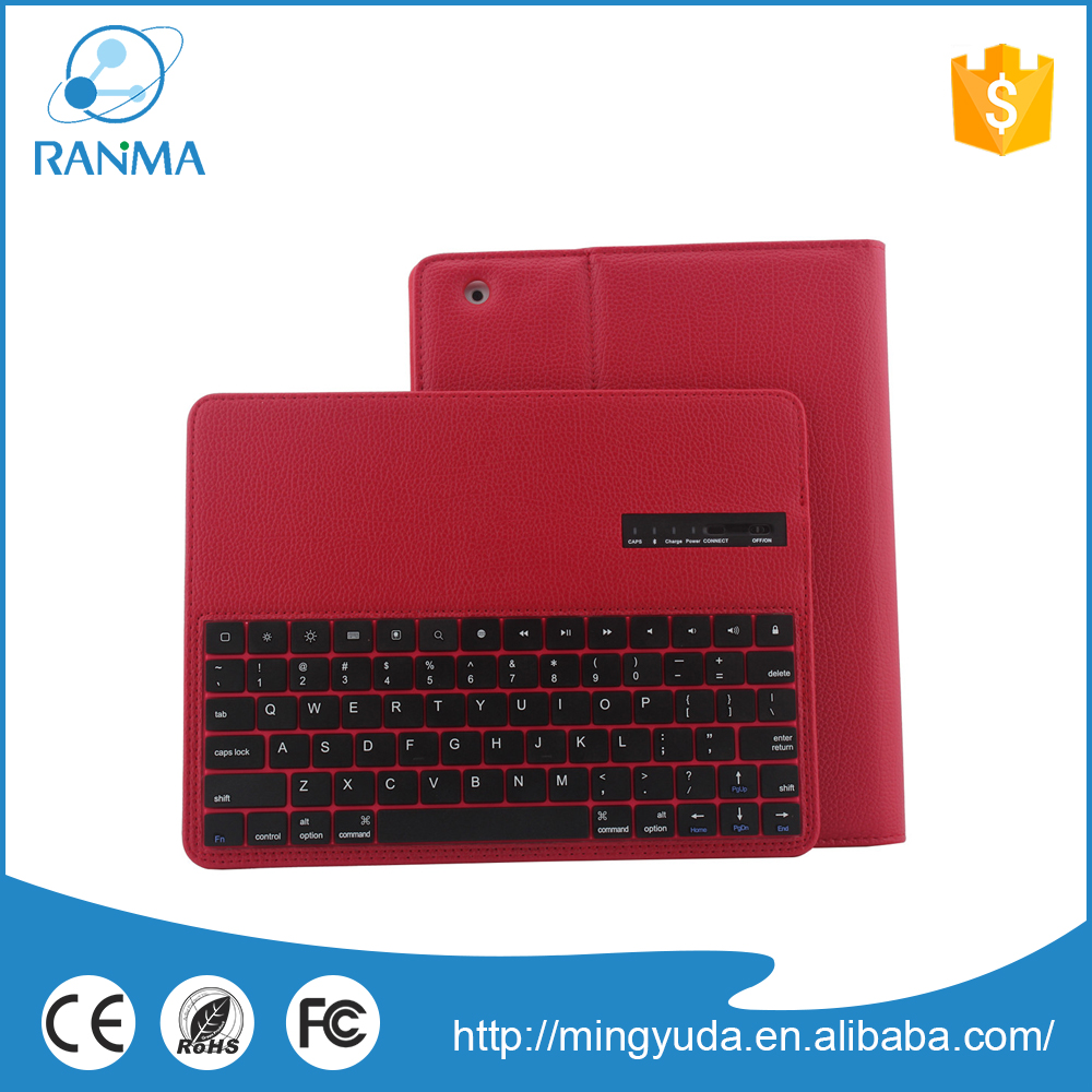 High Quality Bluetooth Wireless Keyboard Stand Leather Case For ipad234