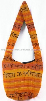 boho hippie shoulder sling bags,India Script Yoga Handbag,Wholesale Bohemian Handbags