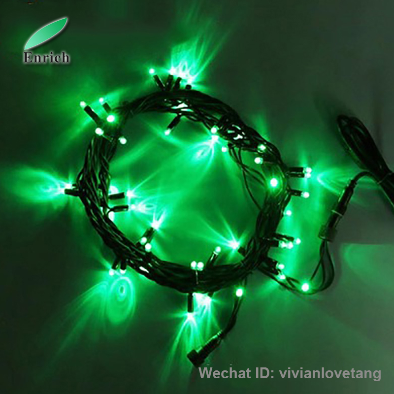 Outdoor led string light with rubber cable high quality