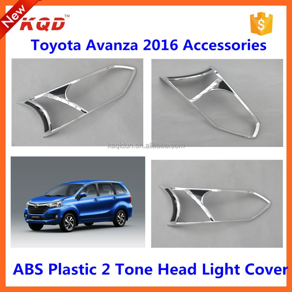 car accessories 2 toned head light cover lamp cover for toyota avanza 2016