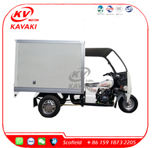 Delivery ice cream refrigerator cargo tricycle with cabin
