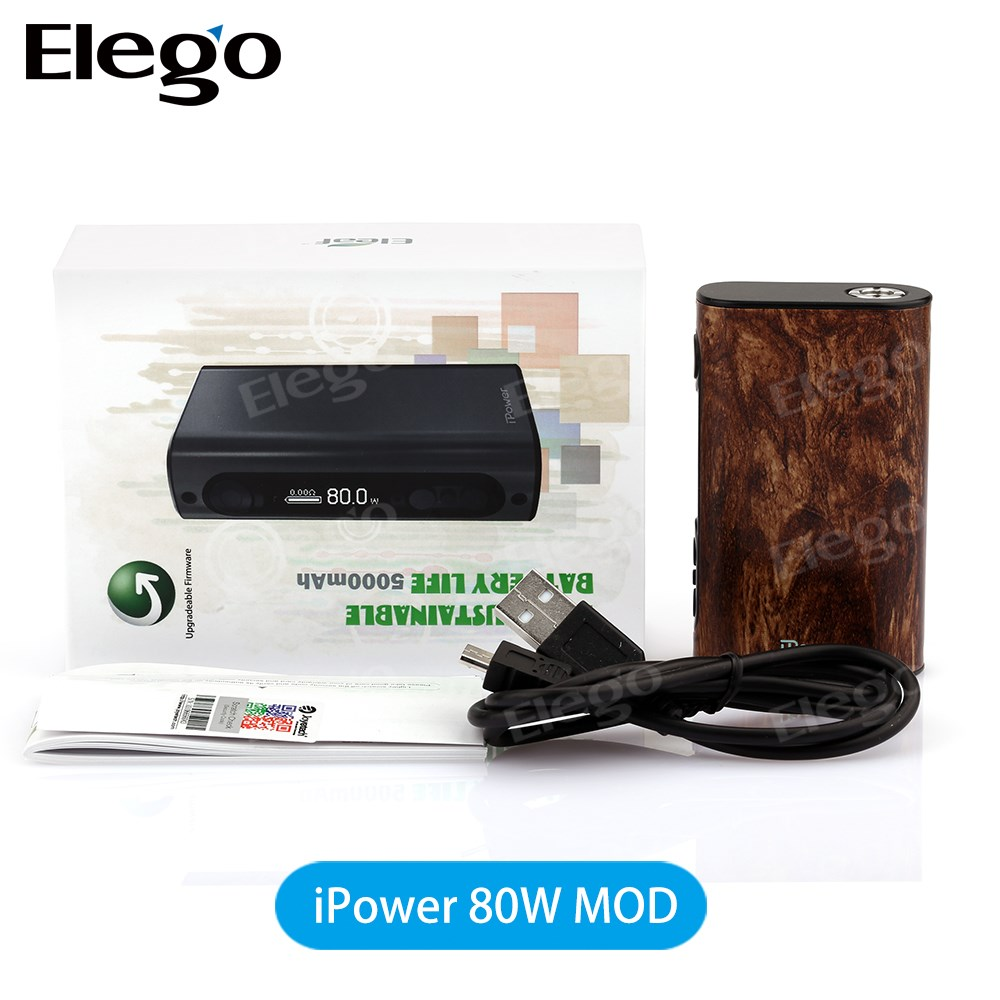 100% Original Eleaf ipower 80w mod suit for Griffin 25 RTA /Smok TFV8 from elego wholesale