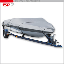 600D Universal Fit Waterproof Trailerable Runabout Fit V-hull Tri-hull Fishing Ski Pro-style Bass Boat Covers
