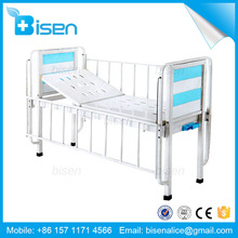 Best stainless steel hospital luxury manual single crank flat children bed/baby bed with low price