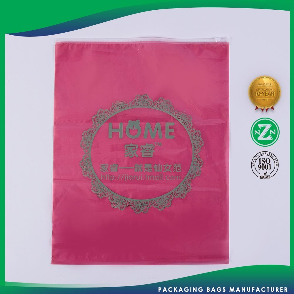 Samples Are Available Customizable Famous Apparel Plastic Zipper Pvc Header Bag