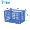 Direct Sales Multi Function Food Grade Moving PP Black Crate for Apparel