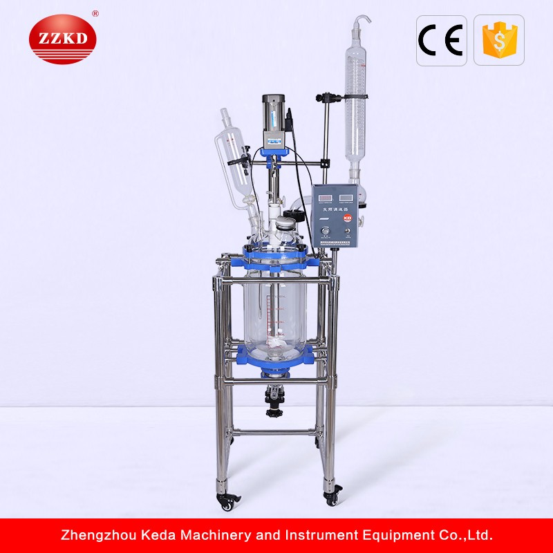 50L Pilot Continuous Stirred Tank Chemical Glass Reactor