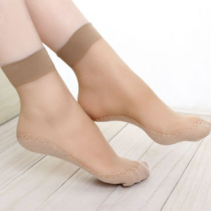 Transparent colorful women sheer short nylon transparent ankle socks