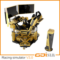 4D VR arcade racing simulator cockpit with CE certificate