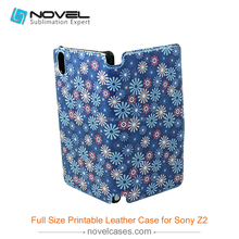 full size sublimation leather phone case for sony xperia z2