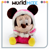 OEM Stuffed Pretty Mice In Pink Hood Plush Toy For Kids