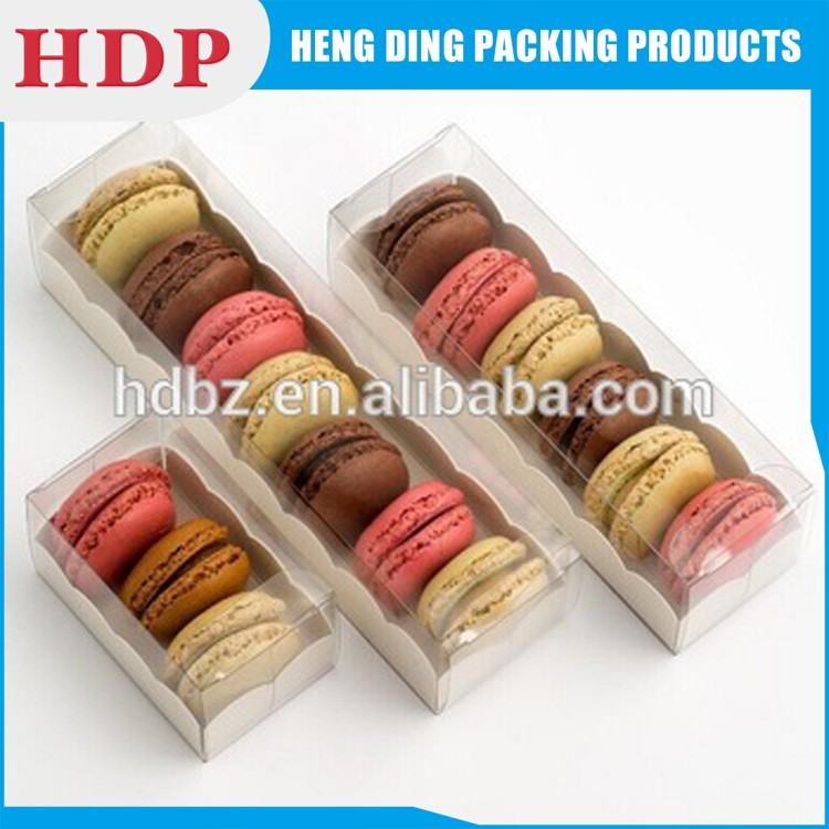 clear pvc plastic macaron packaging box