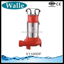 0.75kw/1.1kw submersible sewage pump agriculture irrigation submersible pumps cutter submersible pump