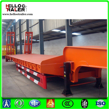 60T low bed trailer 3 axles , utility low bed semi trailer for best price