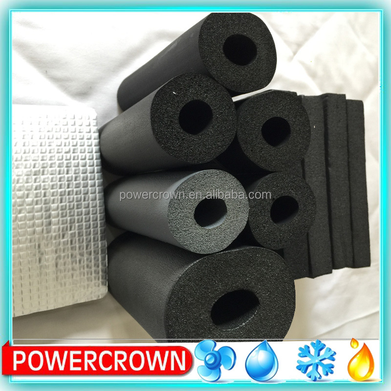 fireproof pvc/nbr rubber plastic foam for heat and cold insulation
