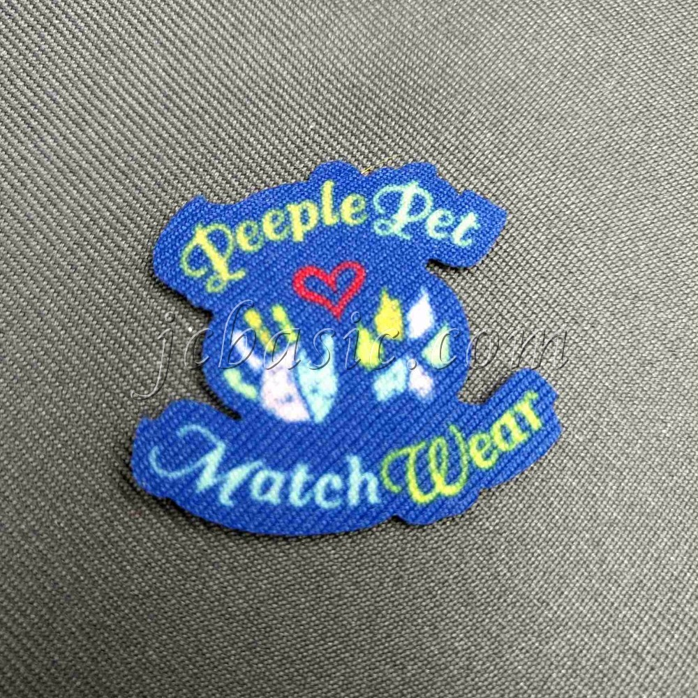 Embroidery Woven Sublimation Printing Marrow Border Patches Sew on or Iron on Badges Patches