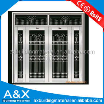International Standard Best Stainless Steel Door With Tempered Glass