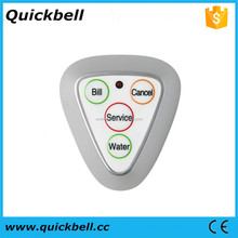 Waterproof waiter caller guest system wireless call button used in restaurant