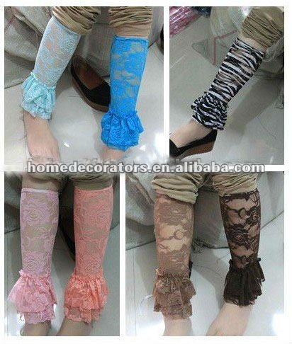 cute baby lace leg warmers with ruffle bottom
