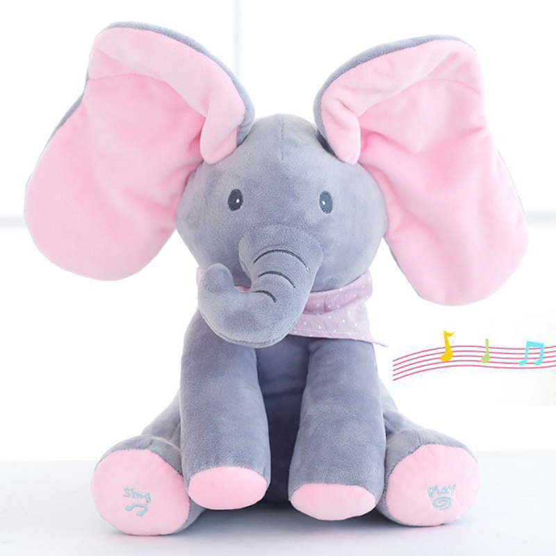 Factory direct music dialogue elephant puppy plush toys