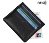 Yiwu manufacture Pull Tab Wallet Slim Leather RFID Blocking Mens Card Holder wallet