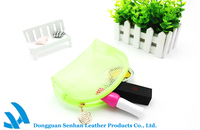 Promotional plastic grid clear cosmetic bag