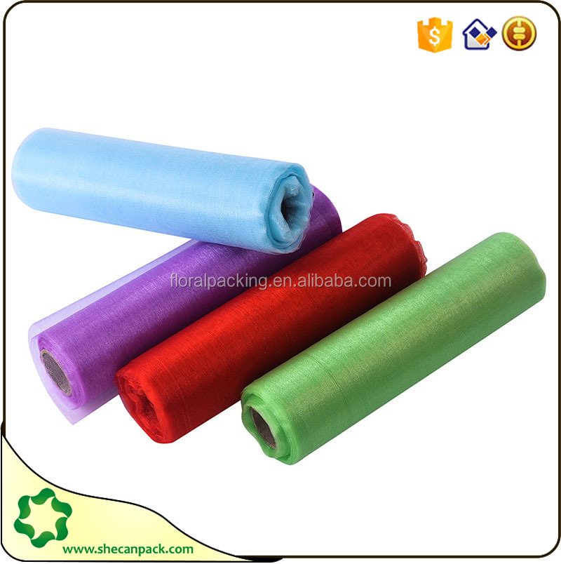 SHE CAN PACK organza fabric roll stretch fabric wholesale