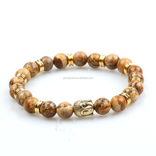 gold jewelry buy in bulk men acessories wood beads gold buddha bracelet