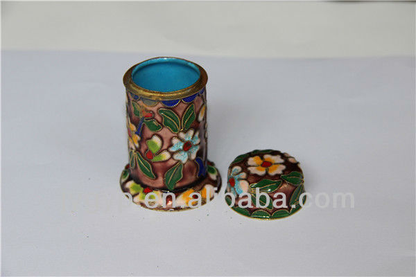 show pieces for home decoration cloisonne toothpick box