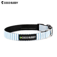 Promotion dog leash and dog collar with custom logo nylon dog pet collar