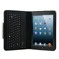 PU Leather Case Cover Stand Silicone Bluetooth V3.0 Keyboard for iPad Mini bluetooth keyboard case, wireless keyboard