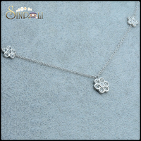 Fashion Personalized Pendant Crystal Zircon Flower