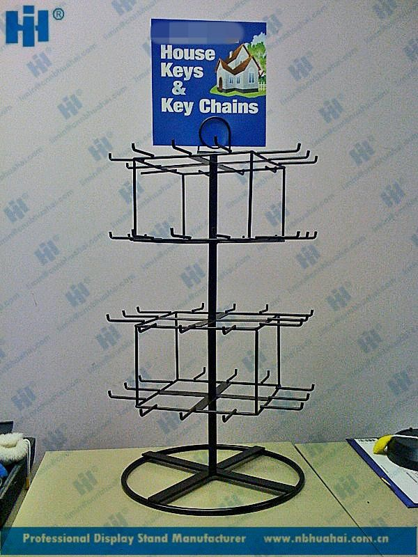 Metal,metal wire Material table keychain display rack