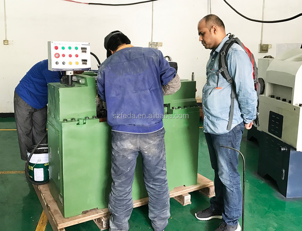 Manual thread rolling machine hollow tube thread making machine thread rolling machine for bolt
