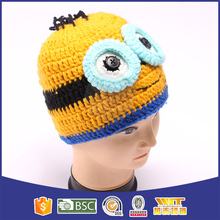 New arrival top fashion yellow minion beanie hat